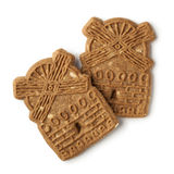 Traditional dutch speculaas cookies Royalty Free Stock Photo