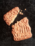 Traditional Dutch speculoos biscuit Royalty Free Stock Photography