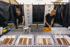 Traditional Dutch waffles Royalty Free Stock Images