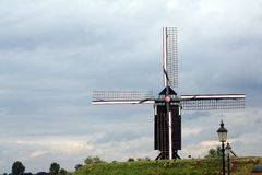 Traditional dutch windmill in Heusden, The Netherl Stock Photography