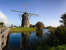 Traditional dutch windmill in Kinderdijk Stock Photo