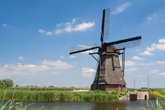 Traditional dutch windmill in Kinderdijk Royalty Free Stock Photo
