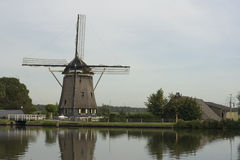Traditional Dutch windmill, near Amsterdam, Netherlands.  Royalty Free Stock Images