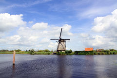 Traditional dutch windmill in the Netherlands Royalty Free Stock Photos