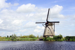 Traditional dutch windmill in the Netherlands Stock Photos