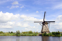 Traditional dutch windmill in the Netherlands Royalty Free Stock Images