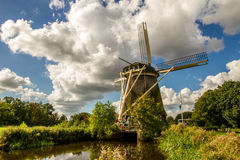 Traditional dutch windmill Stock Photos
