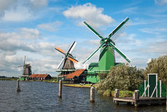 Traditional Dutch Windmills. Stock Photo