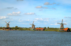Traditional Dutch Windmills. Royalty Free Stock Photo