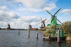Traditional Dutch Windmills. Royalty Free Stock Image