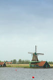 Traditional dutch windmills Royalty Free Stock Images