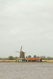 Traditional dutch windmills Royalty Free Stock Image
