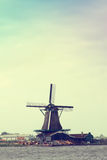Traditional dutch windmills. Scenic spots in Europe Stock Photography
