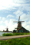 Traditional dutch windmills Stock Photos