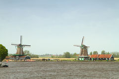 Traditional dutch windmills Royalty Free Stock Photos