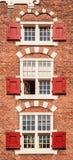 Traditional dutch windows Stock Image