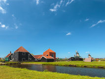Traditional Dutch wooden farm at the Zaanse Schans Royalty Free Stock Images