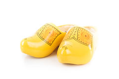 Traditional dutch wooden shoes Stock Image