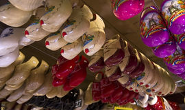 Traditional Dutch wooden shoes (klomps) Stock Photo