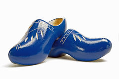 Traditional dutch wooden shoes made of wood Stock Photos