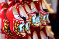 Traditional Dutch wooden shoes Stock Photography