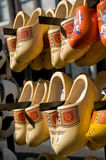 Traditional Dutch Woodend clogs Stock Image