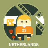 Traditional Dutchman Vector Illustration Royalty Free Stock Images
