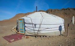 Traditional dwelling of Mongolian nomadic Stock Photography
