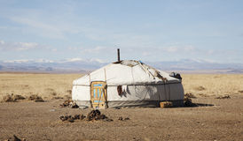 Traditional dwelling of Mongolian nomadic Royalty Free Stock Photos