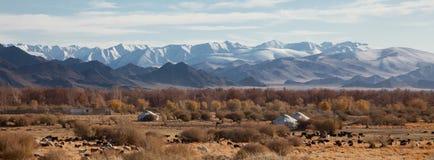 Traditional dwelling of Mongolian nomadic Royalty Free Stock Image