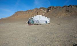 Traditional dwelling of Mongolian nomadic Stock Images