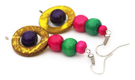 Traditional earrings of Indian subcontinent Royalty Free Stock Photography