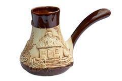 Traditional earthenware coffeepot Stock Image