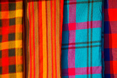 Traditional east african fabrics. Maasai tribe, Kenya Stock Photography
