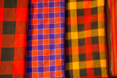 Traditional east african fabrics Stock Images