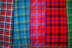 Traditional east african fabrics Royalty Free Stock Images