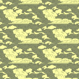 Traditional east culture seamless pattern with clouds Royalty Free Stock Images