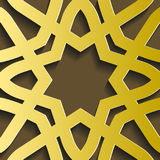 Traditional east geometric decorative pattern gold style. Arabic pattern background. Islamic ornament vector. Persian motif Stock Images