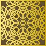 Traditional east geometric decorative pattern gold style. Arabic pattern background. Islamic ornament vector. Persian motif Royalty Free Stock Image