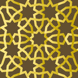 Traditional east geometric decorative pattern gold style. Arabic pattern background. Islamic ornament vector. Persian motif Stock Photos