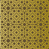 Traditional east geometric decorative pattern gold style. Arabic pattern background. Islamic ornament vector. Persian motif Royalty Free Stock Photo