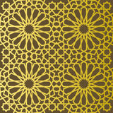 Traditional east geometric decorative pattern gold style. Arabic pattern background. Islamic ornament vector. Persian motif Royalty Free Stock Photos