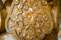 Traditional east pattern on wood products. Uzbekistan Stock Images