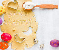 Traditional Easter baking background Stock Image