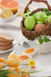 Traditional Easter breakfast Royalty Free Stock Photography