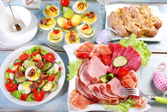 Traditional easter breakfast Royalty Free Stock Photos