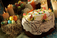 Traditional easter cake Royalty Free Stock Images