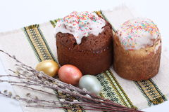 Traditional easter cake Royalty Free Stock Photos
