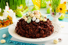 Traditional Easter cake of chocolate Stock Photo