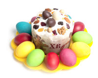 Traditional Easter cake Stock Photos